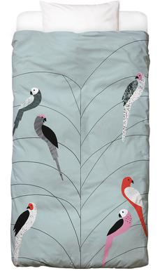 Tropicana - Birds on Branch Grey Bed Linen
