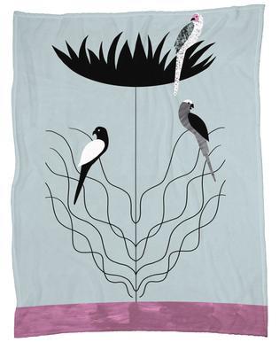 Tropicana - Big Flower Fleece Blanket