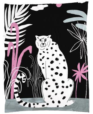 Tropicana - Cheetah and Jungle Fleece Blanket