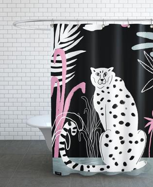 Tropicana - Cheetah and Jungle Rideau de douche