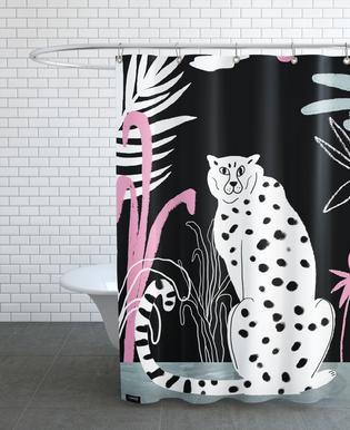 Tropicana - Cheetah and Jungle Shower Curtain