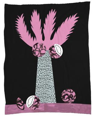 Tropicana - Cabbage Palm Fleece Blanket