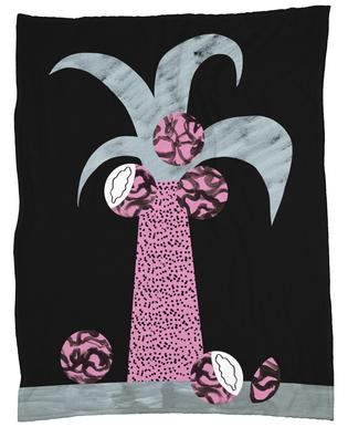 Tropciana - Royal Palm Fleece Blanket