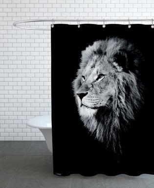 Dark Lion Head Shower Curtain