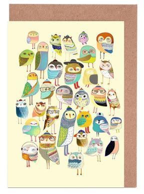 Owl Hundreds Grußkartenset