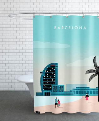 Barcelona -Duschvorhang