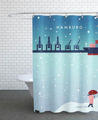 Hamburg Im Winter Duschvorhang