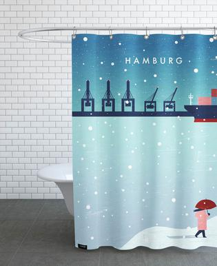 Hamburg Im Winter Shower Curtain