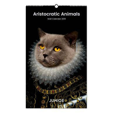 Aristocratic Animals 2019 Wall Calendar