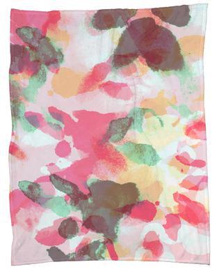Floral Aquaellic Fleece Blanket