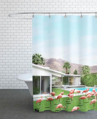 Flamingos in Palm Springs -Duschvorhang