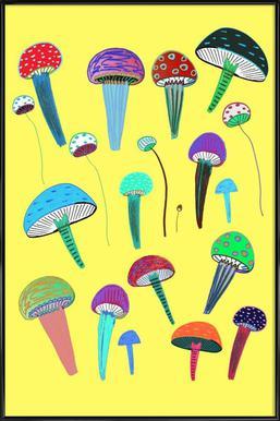 Mushrooms Affiche sous cadre standard