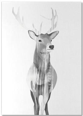 Deer Black & White notitieblok