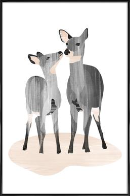 Oh Deer Affiche sous cadre standard
