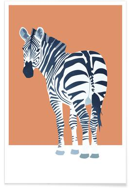 The Zebra Look Poster