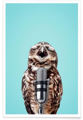 Owl Mic Affiche