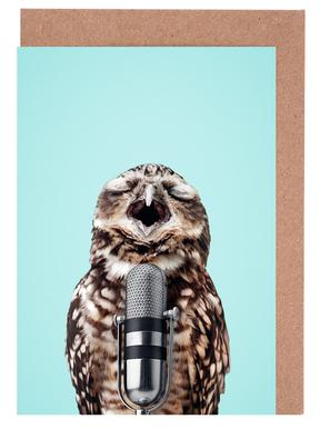 Owl Mic Grußkartenset