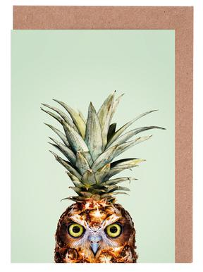 Pineapple Owl Grußkartenset
