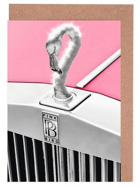 Pink Bird Set de cartes de vœux