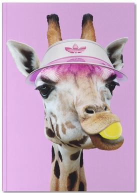 Tennis Giraffe Notebook