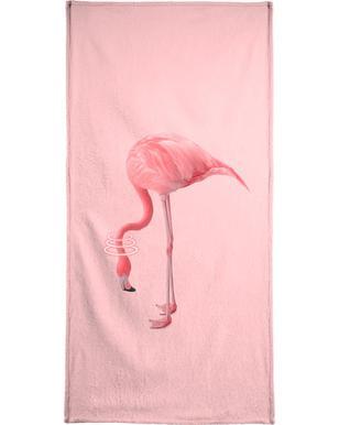 Neon Flamingo handdoek