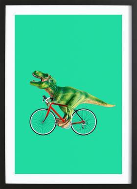 T-Rex Bike Framed Print