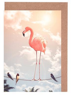 Flamingo and Friends Set de cartes de vœux