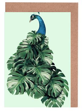 Monstera Bird Set de cartes de vœux