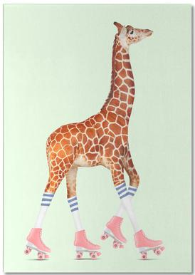 Rollerskating Giraffe Notepad