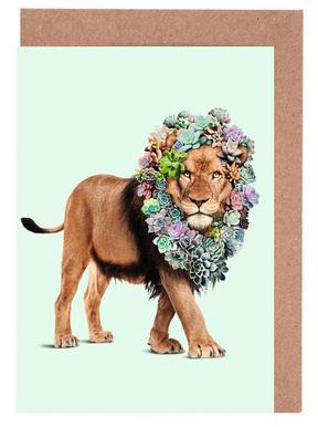 Succulent Lion Grußkartenset