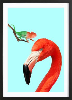 Colorful Friends Poster in Wooden Frame