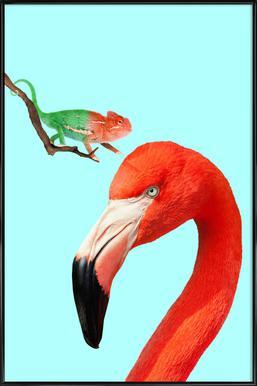 Colorful Friends -Bild mit Kunststoffrahmen