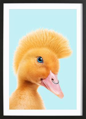 Rebel Duckling -Bild mit Holzrahmen