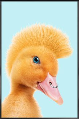 Rebel Duckling -Bild mit Kunststoffrahmen
