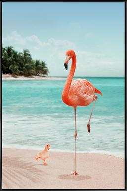 Wannabe Flamingo Poster in Standard Frame