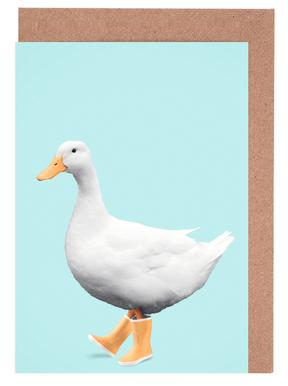 Duck Boots Greeting Card Set