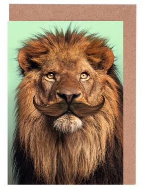Bearded Lion -Grußkarten-Set