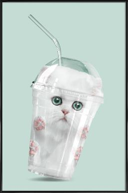 Catshake -Bild mit Kunststoffrahmen
