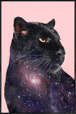 Galaxy Panther Poster im Kunststoffrahmen