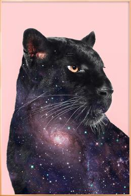 Galaxy Panther Poster in Aluminium Frame
