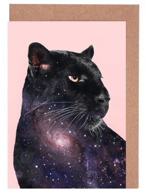 Galaxy Panther Grußkartenset