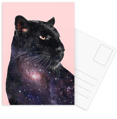 Galaxy Panther Postcard Set