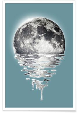 Melting Moon Poster