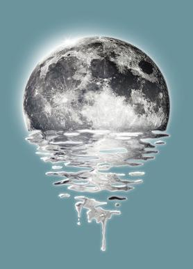 Melting Moon Canvas Print