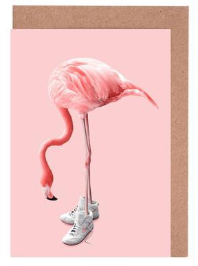 Sneaker Flamingo Wenskaartenset