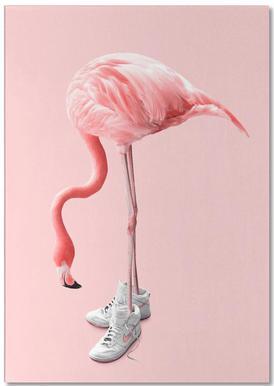 Sneaker Flamingo -Notizblock