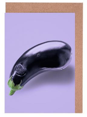 Eggplant Whale Grußkartenset