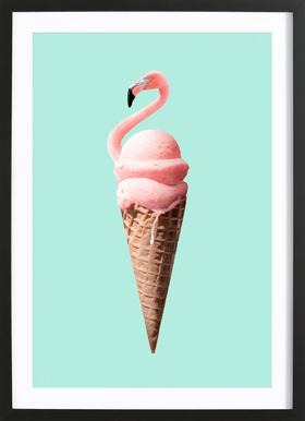 Flamingo Cone Framed Print
