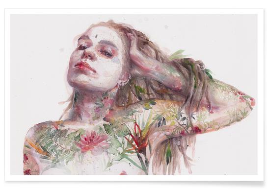 Leaves on Skin Poster