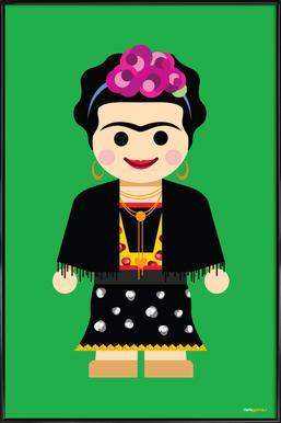 Frida Kahlo Toy Framed Poster